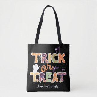 Trick or treat Cute Ghost Halloween Tote Bag