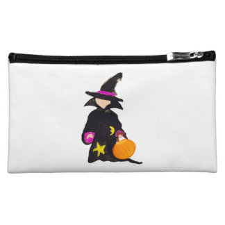Trick or Treat Cute Halloween Toddler Witch Makeup Bag