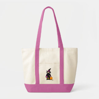 Trick or Treat Cute Halloween Toddler Witch Impulse Tote Bag
