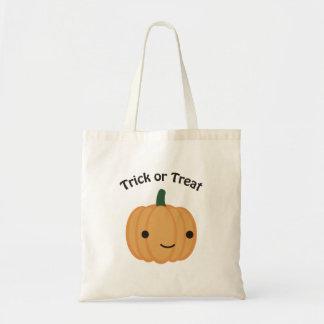 Trick or treat - Cute Pumpkin Canvas Bags