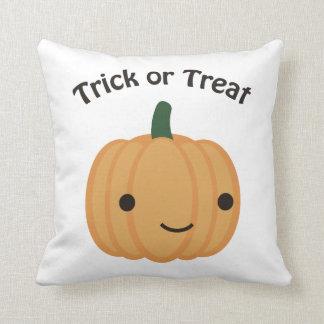 Trick or treat - Cute Pumpkin Throw Pillows