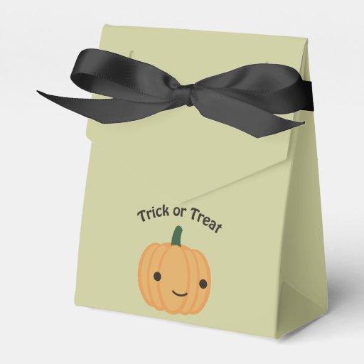 Trick or treat - Cute Pumpkin Party Favor Boxes