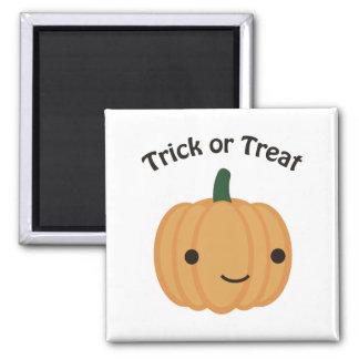 Trick or treat - Cute Pumpkin Square Magnet