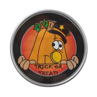 Trick or Treat Cute Pumpkin Jelly Belly Candy Tin