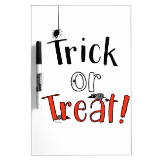 Trick or Treat! Dry Erase Board