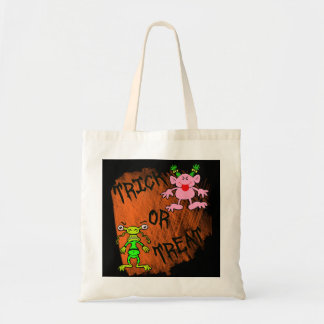 Trick or Treat Funny Monsters Budget Tote Bag