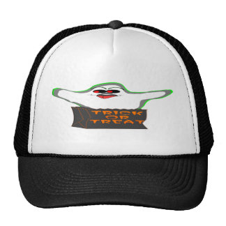Trick-or-Treat Ghost Mesh Hats
