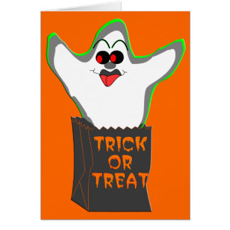 Trick-or-Treat Ghost Greeting Card