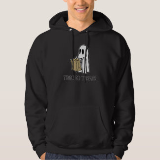 Trick or Treat Ghost Hooded Pullover