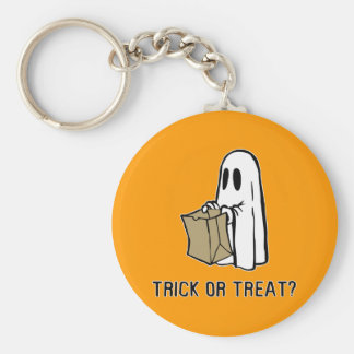 Trick or Treat Ghost Keychain