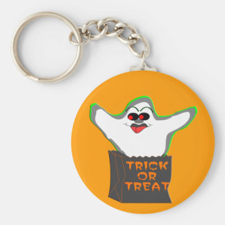 Trick-or-Treat Ghost Keychain