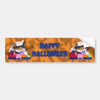 Trick or Treat Ghost & Pumpkins Bumper Stickers