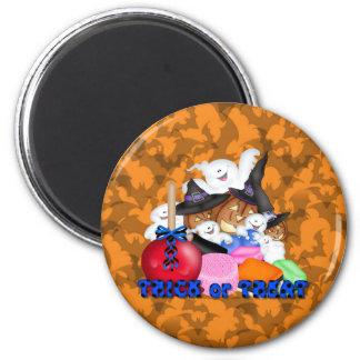 Trick or Treat Ghost & Pumpkins Magnet