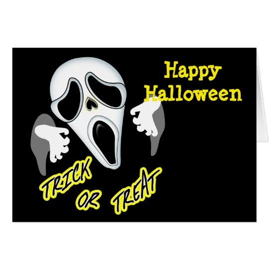 Trick Or Treat Ghostly Halloween Fun Graphic Card