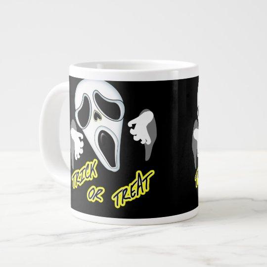 Trick Or Treat Ghostly Halloween Fun Graphic Large Coffee Mug