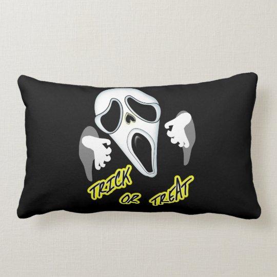 Trick Or Treat Ghostly Halloween Fun Graphic Lumbar Cushion