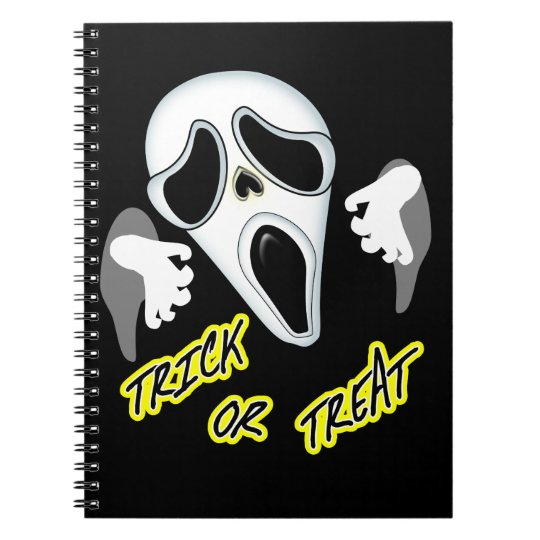Trick Or Treat Ghostly Halloween Fun Graphic Spiral Notebook