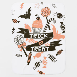 Trick or Treat Goodies Design Baby Blanket