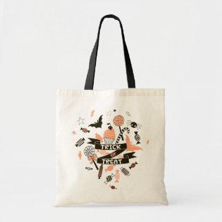 Trick or Treat Goodies Design Tote Bag