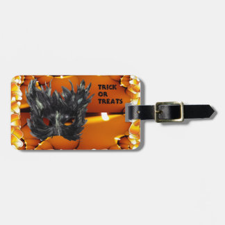 Trick or Treat Gothic Mask Tags For Bags