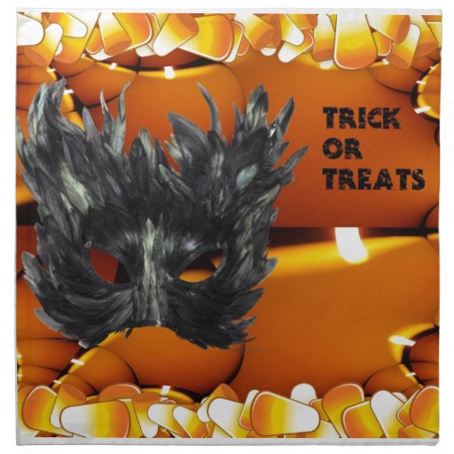 Trick or Treat Gothic Mask Cloth Napkin