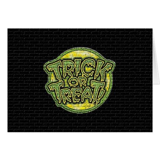 Trick or Treat Grafitti Greeting Card