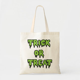 Trick or Treat - Green Canvas Bag
