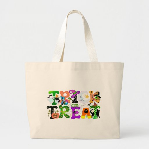 Trick or Treat Greeting Canvas Bags