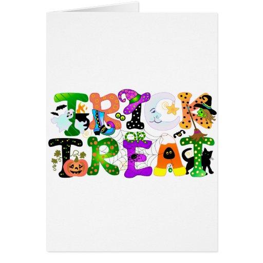Trick or Treat Greeting Greeting Card