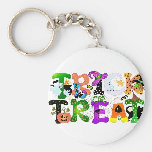 Trick or Treat Greeting Key Chain