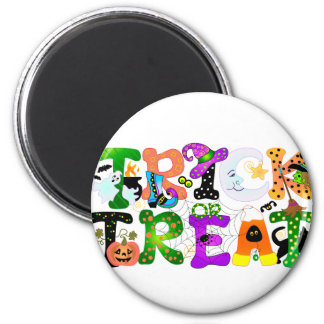 Trick or Treat Greeting Refrigerator Magnets