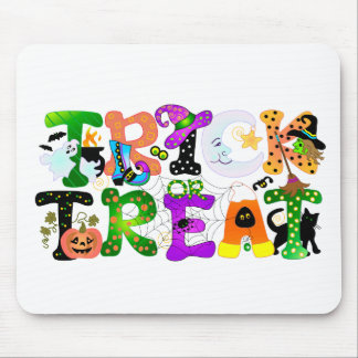 Trick or Treat Greeting Mouse Pad
