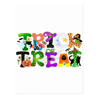 Trick or Treat Greeting Postcard