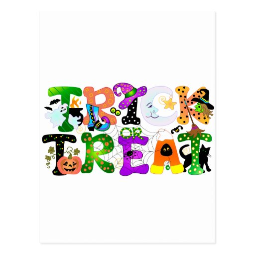 Trick or Treat Greeting Postcards