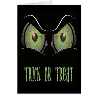TRICK OR TREAT GREETINGS CARD