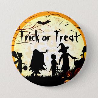 Trick or Treat Halloween  2¼ Inch Round Button