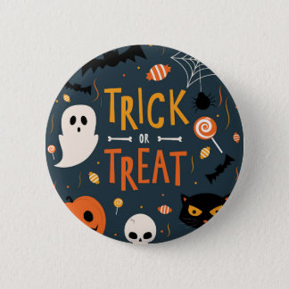 Trick or Treat Halloween 6 Cm Round Badge