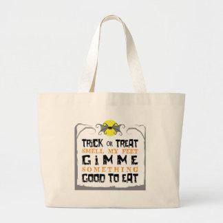 Trick or Treat Halloween Bat Jumbo Tote Bag
