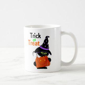 Trick Or Treat Halloween Cat With Pumpkin Mug