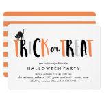 Trick or Treat Halloween Celebration 13 Cm X 18 Cm Invitation Card