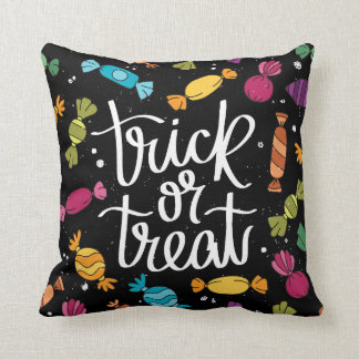 Trick or Treat Halloween Colorful Candy Pillow