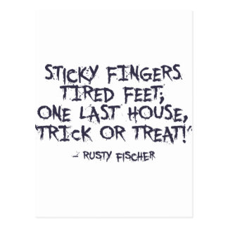 Trick Or Treat Halloween Design Postcard