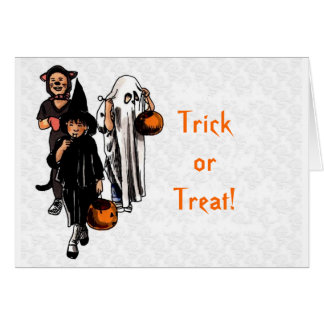 Trick or Treat! - Halloween Greeting Card