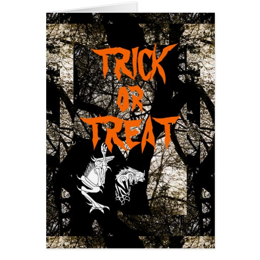 TRICK OR TREAT Halloween Greeting Card