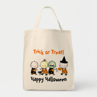 Trick or Treat Halloween HB Grocery Tote Bag