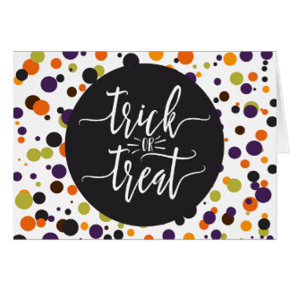 Trick or Treat Halloween Modern Brush Font Card