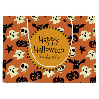 Trick Or Treat. Halloween Monsters. Large Gift Bag