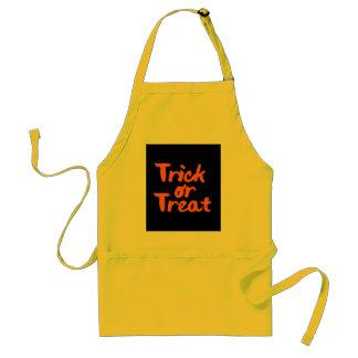 Trick or Treat Halloween Orange Brush Stroke Standard Apron