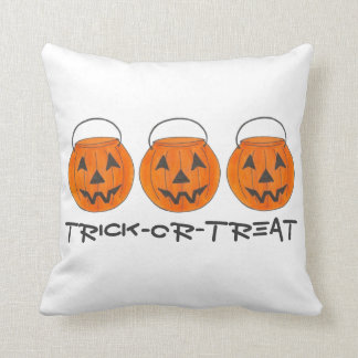 Trick or Treat Halloween Orange Pumpkin Pillow
