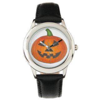 Trick or Treat Halloween Orange Pumpkin Watch
